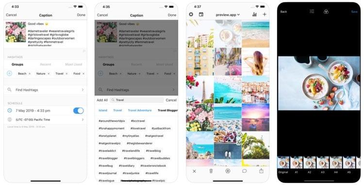 aplicaciones para Instagram: Preview