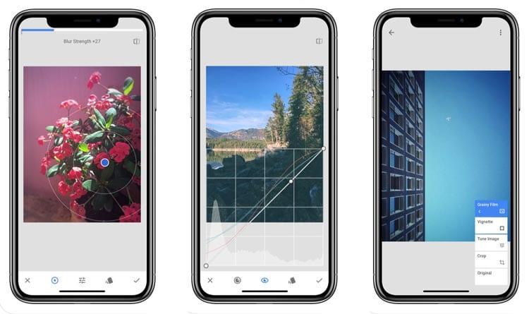 aplicaciones para Instagram: Snapseed