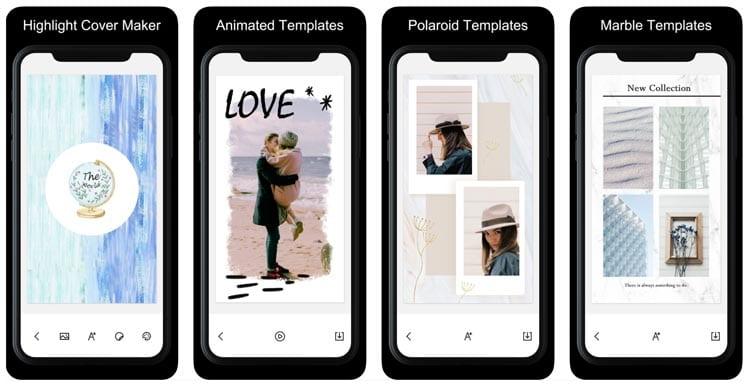 aplicaciones para Instagram: StoryArt