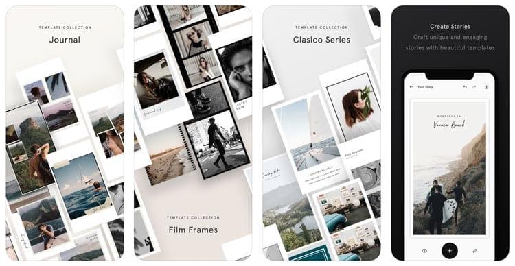 aplicaciones para Instagram: Unfold