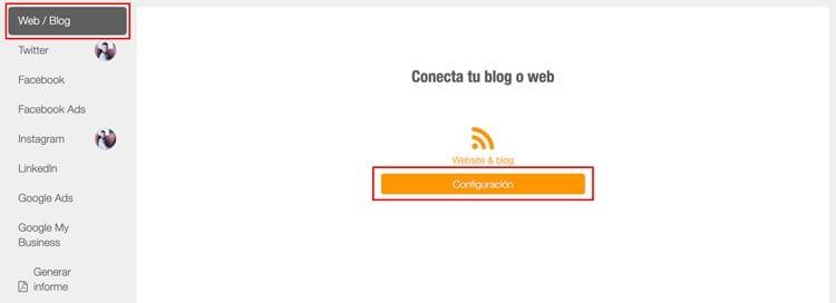 herramientas de analítica web: Metricool