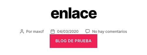 Formatos de entrada en un blog (WordPress): enlace