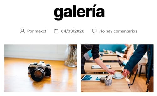 Formatos de entrada en un blog (WordPress): galería