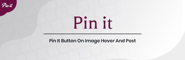 Plugins de Pinterest para WordPress: Pin It Button On Image Hover And Post