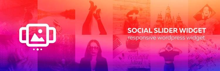 Plugins para mostrar tu feed de Instagram en WordPress: Social Slider Widget
