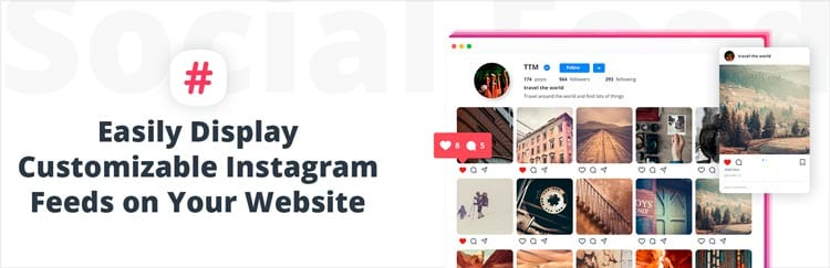 Plugins para mostrar tu feed de Instagram en WordPress: 10Web Social Photo Feed