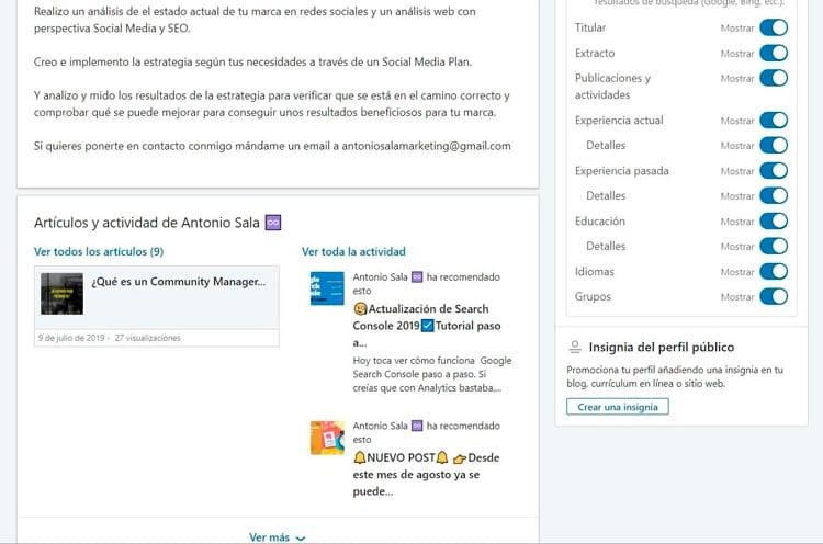 Incrustar el widget de LinkedIn en tu web