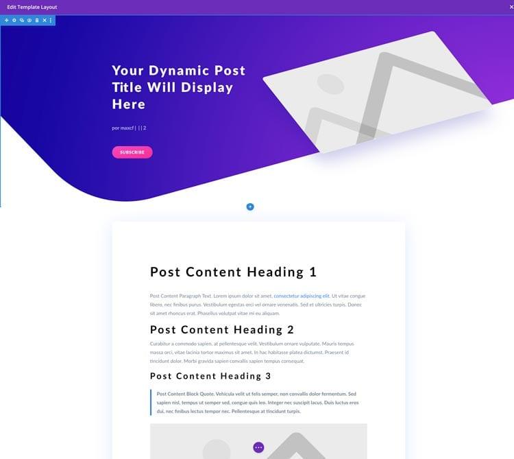 Divi Theme Builder: editar las entradas del blog