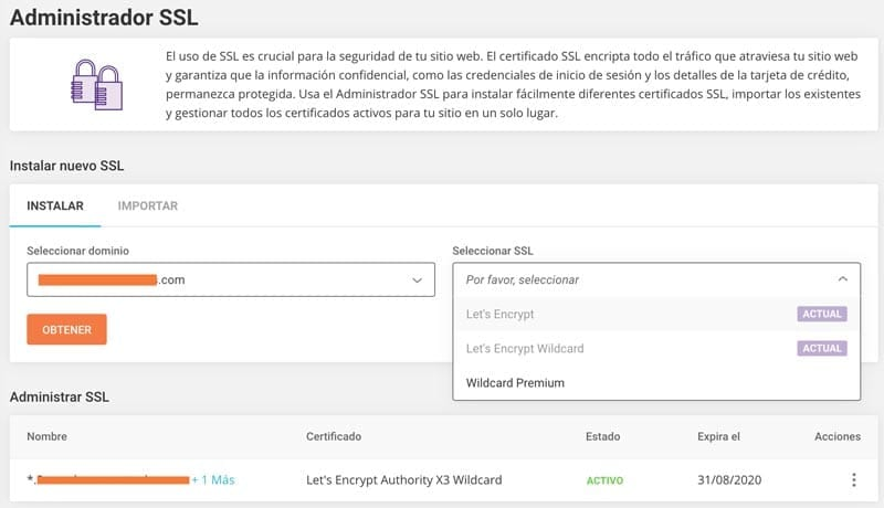 Funcionalidades SiteGround: SSL Let´s Encrypt y Wildcard