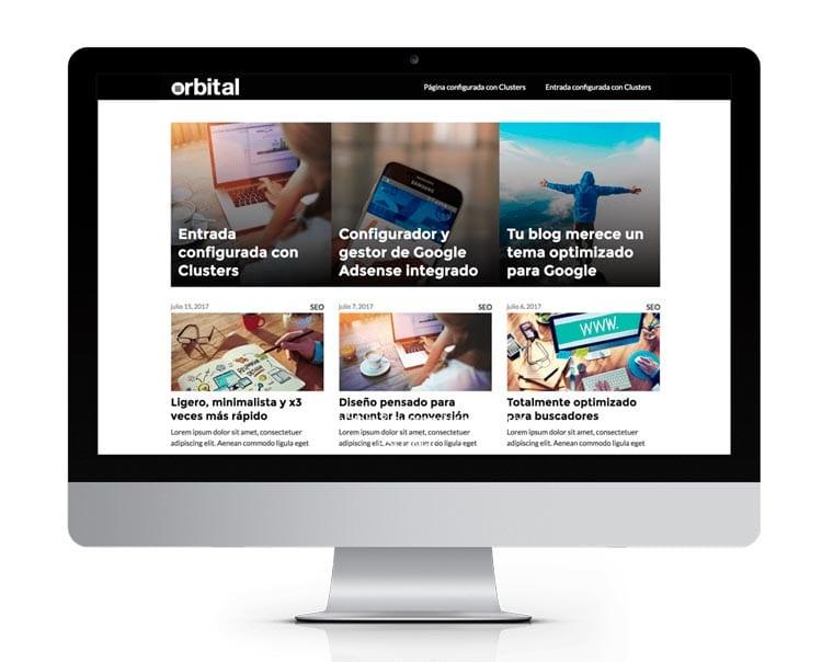 Las mejores plantillas WordPress premium: Orbital Theme