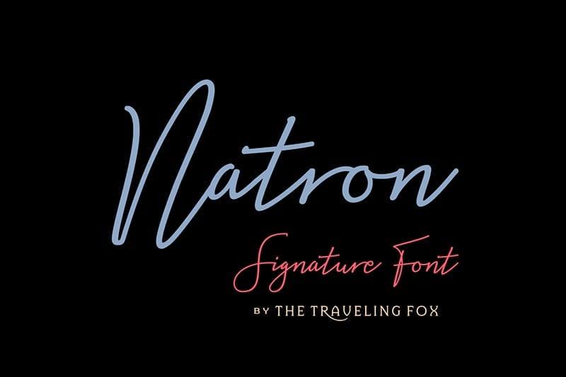 descargar fuente Natron gratis