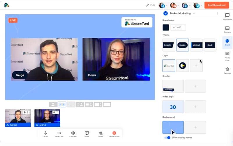 Plataformas y herramientas para emitir en streaming: StreamYard