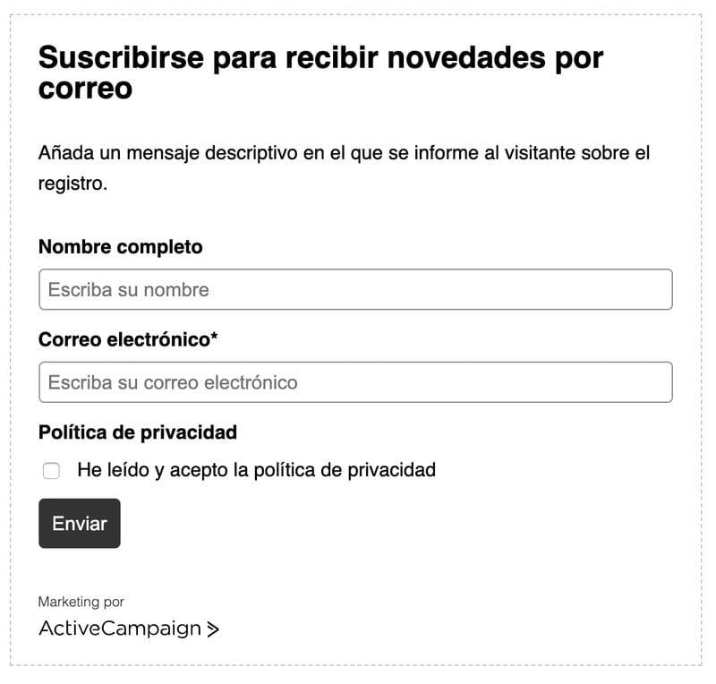 Cómo adaptar al RGPD tus formularios de suscripción con Active Campaign
