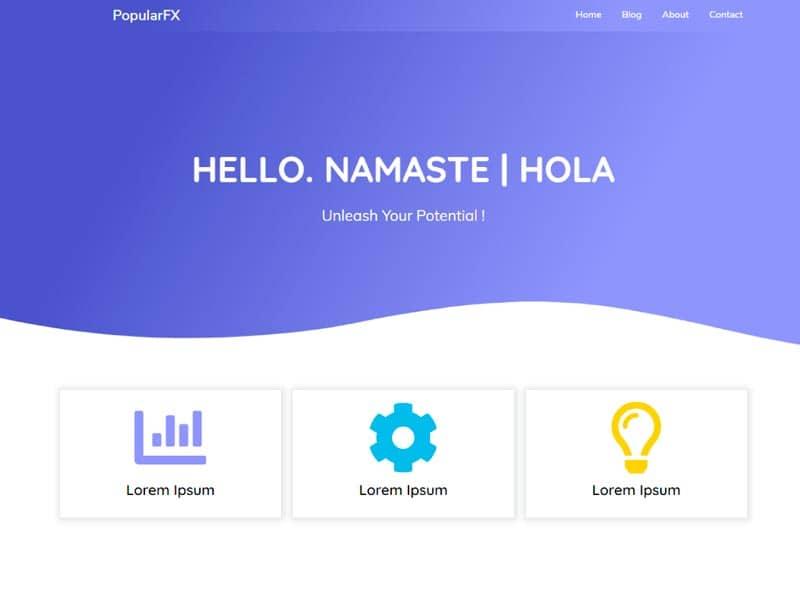 Plantillas WordPress gratis: PopularFX
