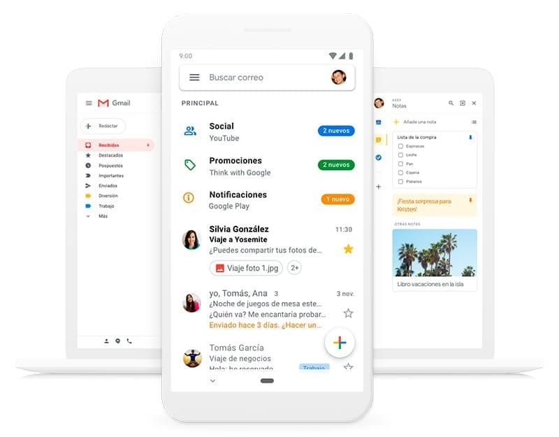 herramientas para el teletrabajo: Gmail