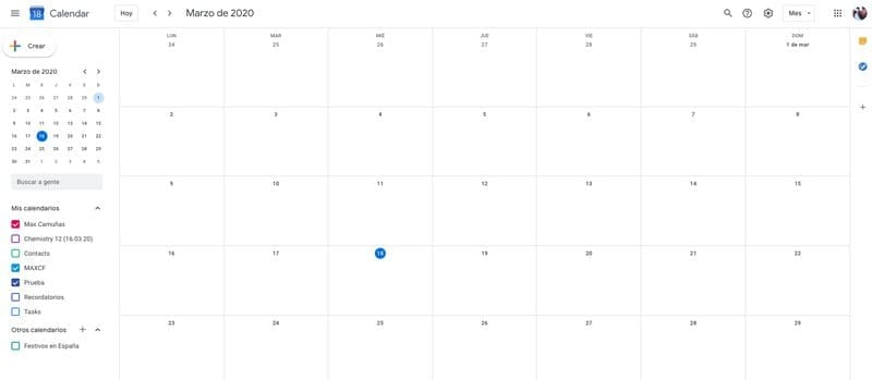 herramientas para el teletrabajo: Google Calendar