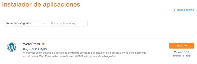 Instalar WordPress en DonDominio
