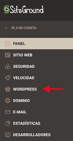 Instalar WordPress en SiteGround