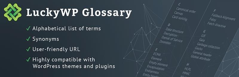 Cómo crear una membresía en WordPress: LuckyWP Glossary Premium