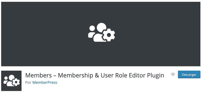 Cómo crear una membresía en WordPress: members