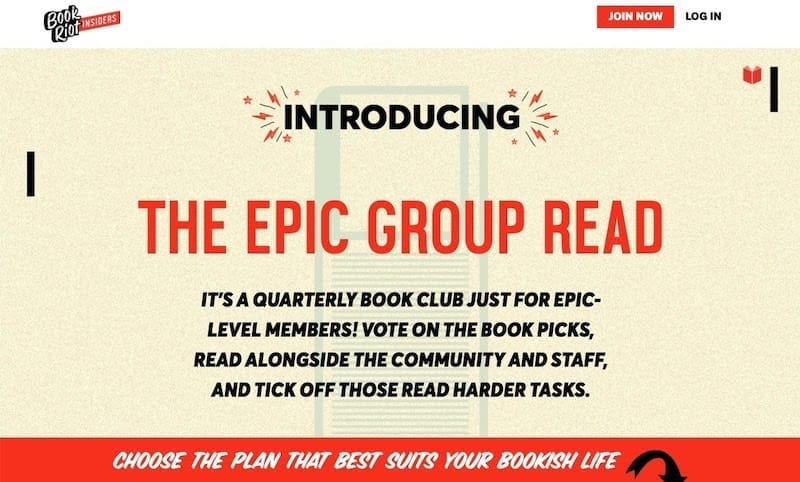 sitios de membresía: Book Riot