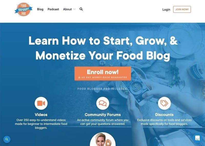 sitios de membresía: Food Blogger Pro