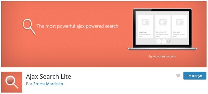Cómo crear una membresía en WordPress: Ajax Search Lite