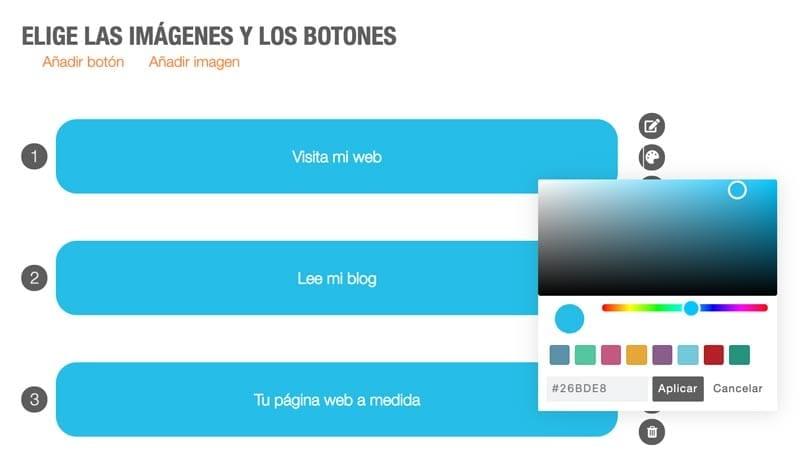 Cómo crear una página de enlaces (landing social): Metricool