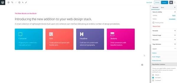Plugins para añadir bloques al editor de WordPress: GenerateBlocks