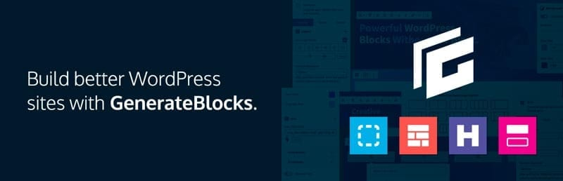 Plugins para añadir bloques al editor de WordPress: GenerateBlocks