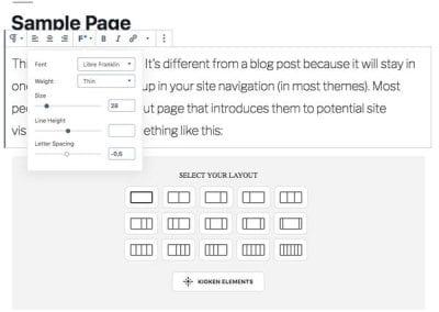 Plugins para añadir bloques al editor de WordPress: Kioken Blocks