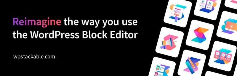 Plugins para añadir bloques al editor de WordPress: Stackable