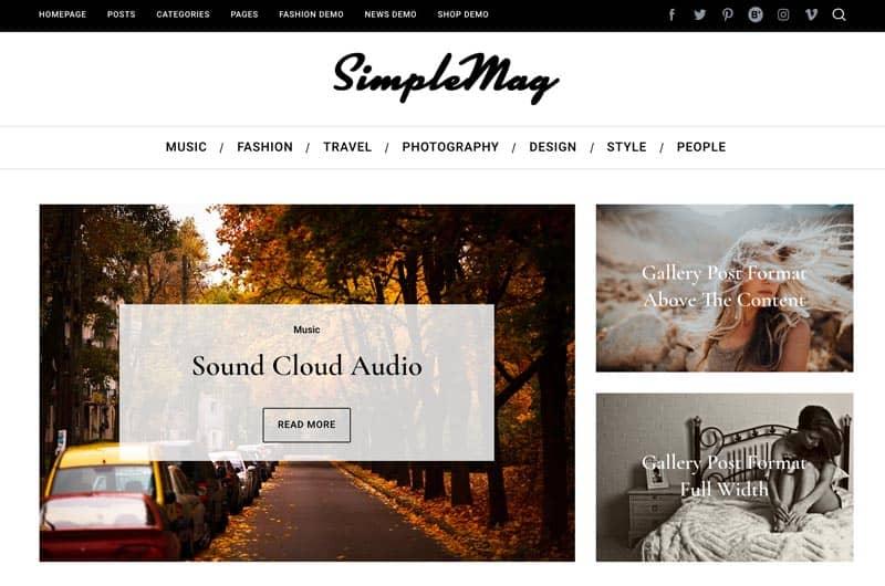 Las mejores plantillas WordPress premium: SimpleMag