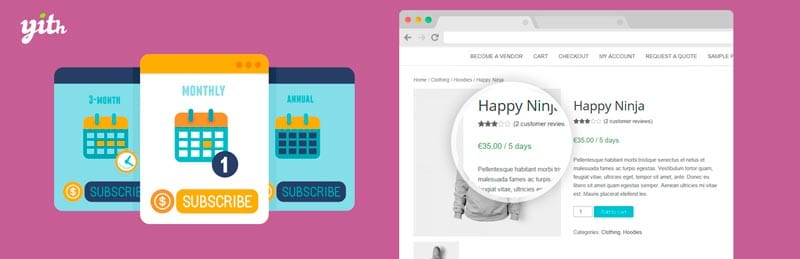 Plugins para configurar pagos recurrentes en WordPress: YITH WooCommerce Subscription