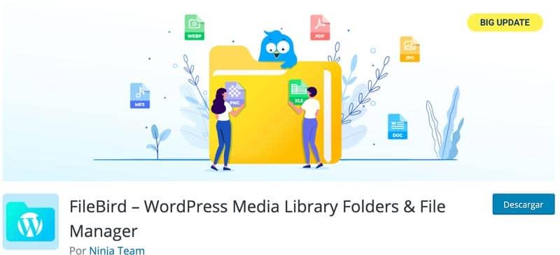 plugins para editar imágenes en WordPress: organizar la biblioteca de medios