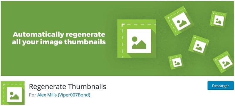 plugins para editar imágenes en WordPress: regenerar tamaño