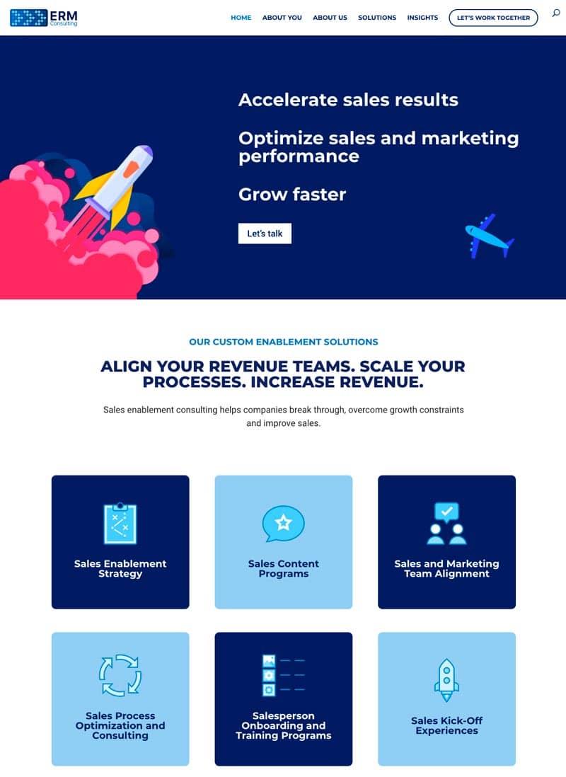 Cómo adaptar el branding de tu marca a tu página web: ERM Consulting