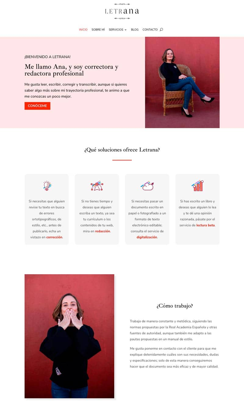 Cómo adaptar el branding de tu marca a tu página web: Letrana
