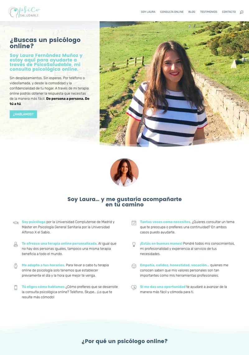 Cómo adaptar el branding de tu marca a tu página web: PsicoSaludable
