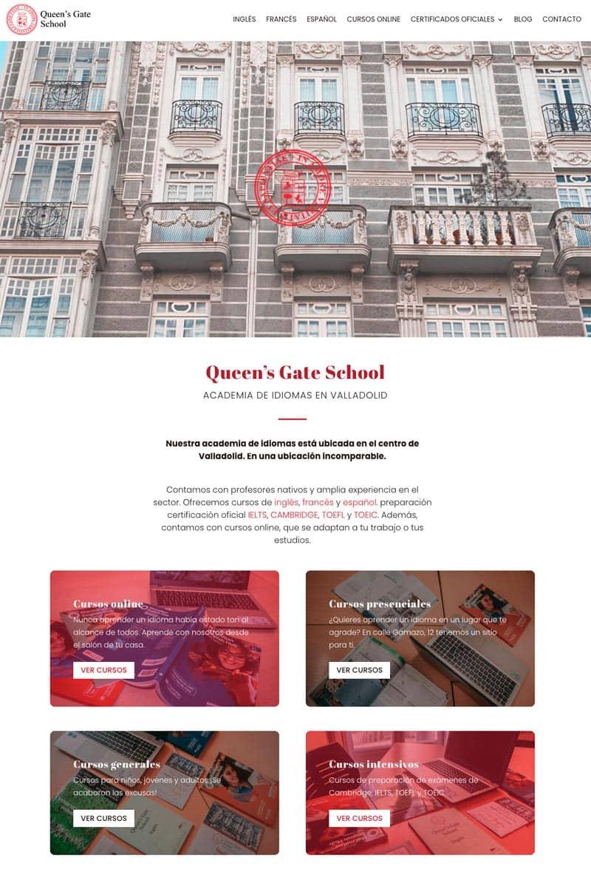 Cómo adaptar el branding de tu marca a tu página web: Queen's Gate School