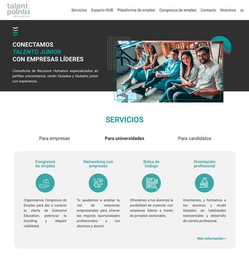 Cómo adaptar el branding de tu marca a tu página web: Talent Point HR