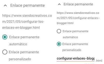 Cómo configurar los enlaces o URLs de Blogger