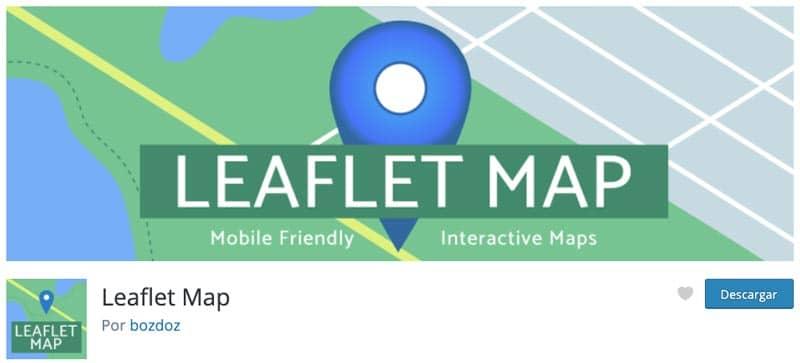 Plugins para añadir mapas en WordPress: Leaflet Map