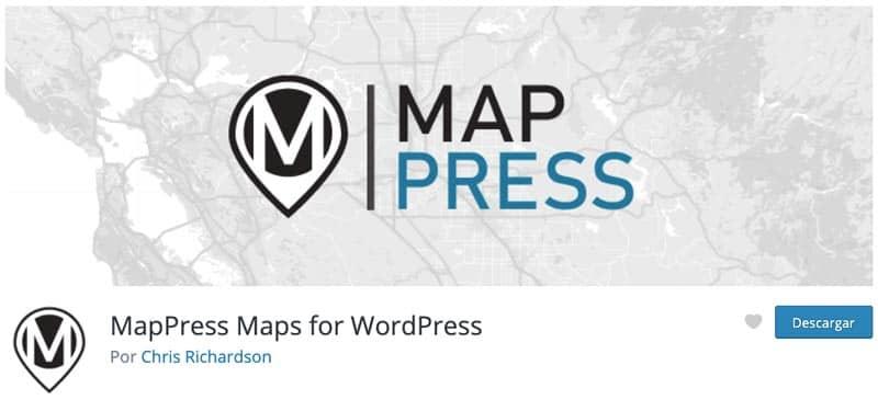 Plugins para añadir mapas en WordPress: MapPress Maps for WordPress