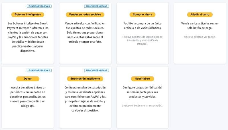 vender en WordPress sin WooCommerce: botones PayPal