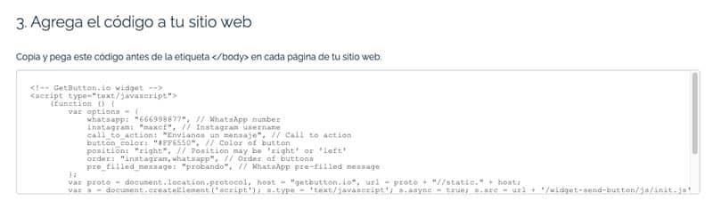 Chat WordPress sin plugins: GetButton