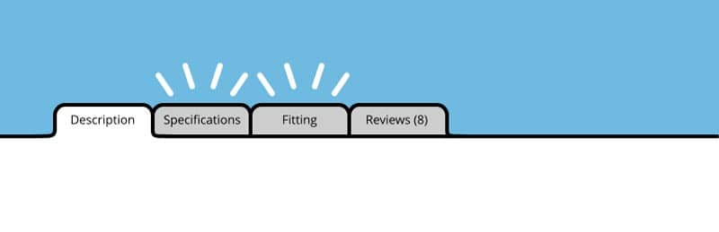 plugins de WordPress para tiendas online: Custom Product Tabs WooCommerce