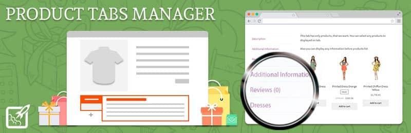 plugins de WordPress para tiendas online: Product Tabs Manager for WooCommerce