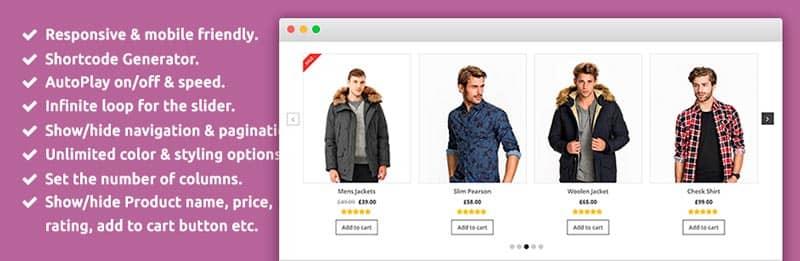 plugins de WordPress para tiendas online: Product Slider for WooCommerce