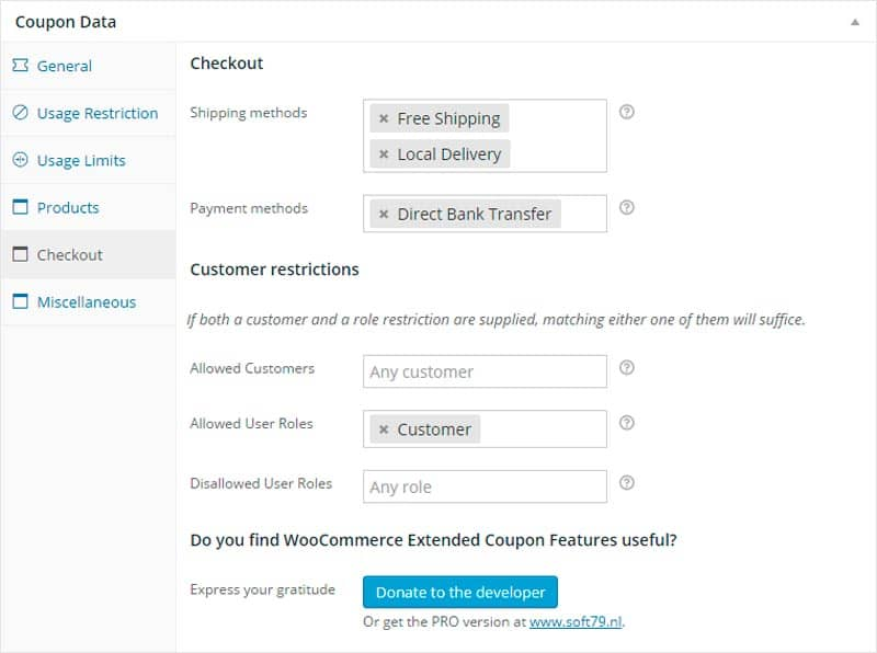 plugins de WordPress para tiendas online: WooCommerce Extended Coupon Features FREE